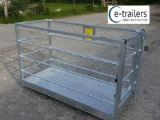 1.8m Galvanised Safety Access Platform Cage Box For Telehandler Fork Lift -VAT Included